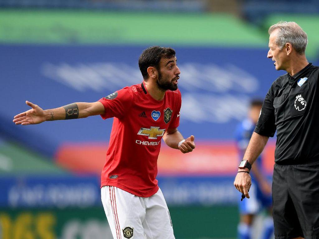 Leicester Vs MU: Bruno Fernandes Kena Amuk Solskjaer!