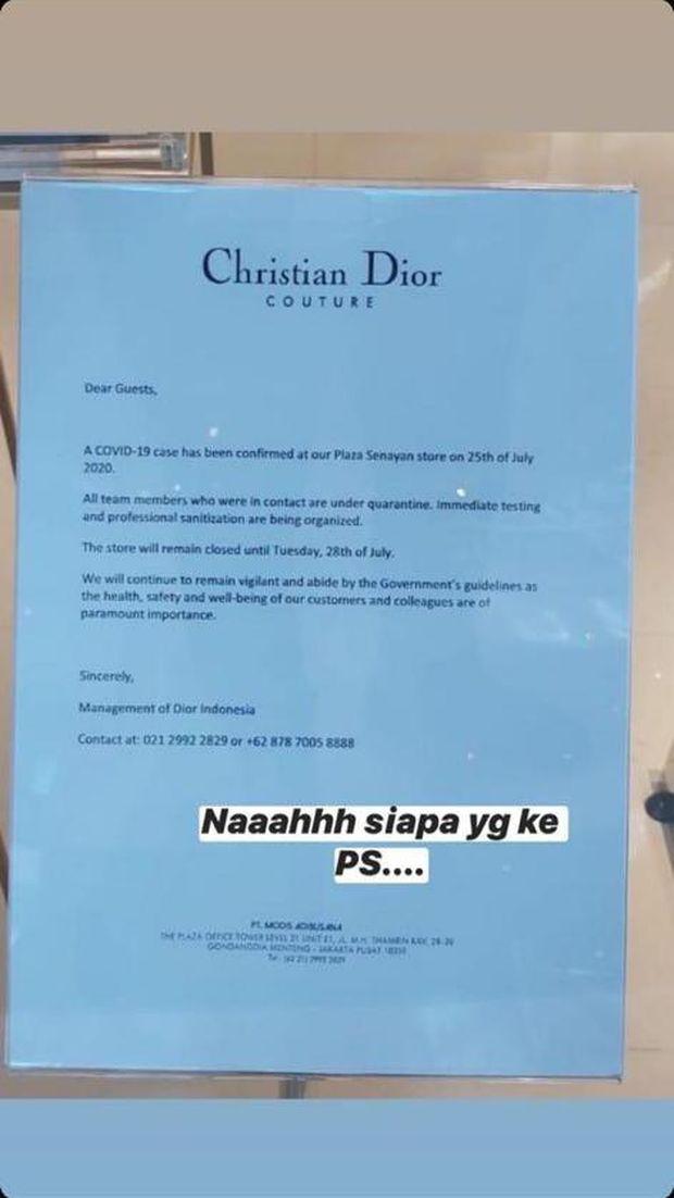 Surat Christian Dior Indonesia yang beredar di WhatsApp