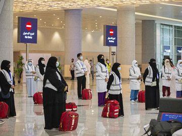 Dilaksanakan Secara Terbatas, Jemaah Haji Mulai Berdatangan