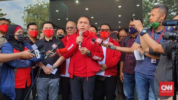 PSSI dan Mills launching Jersey Timnas Indonesia, Senin (27/7).