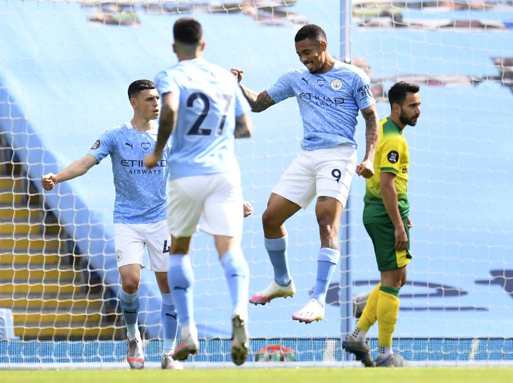 Man City vs Norwich: The Citizens Pesta 5 Gol