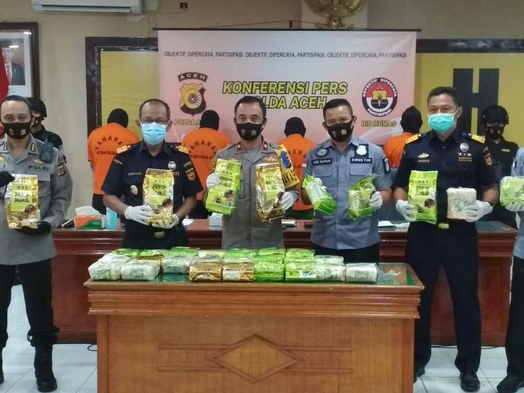 210 Kg Sabu Gagal Diselundupkan ke Aceh Selama Januari-Juli 2020