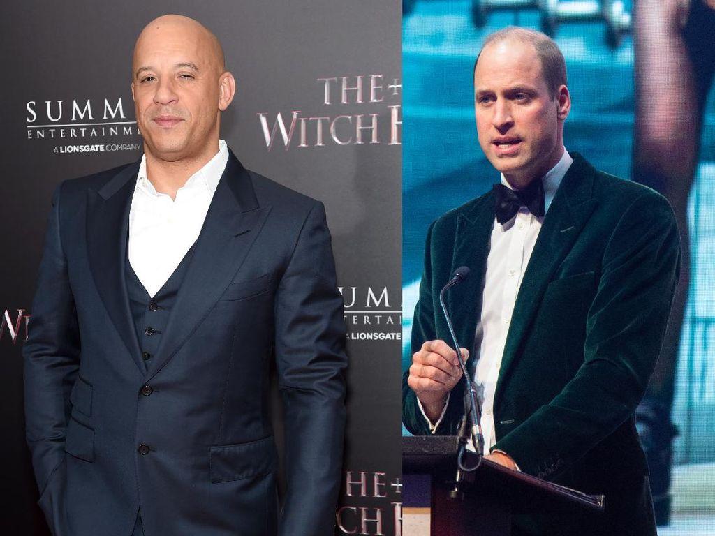 Vin Diesel hingga Pangeran William, Deretan Seleb Berkepala Plontos