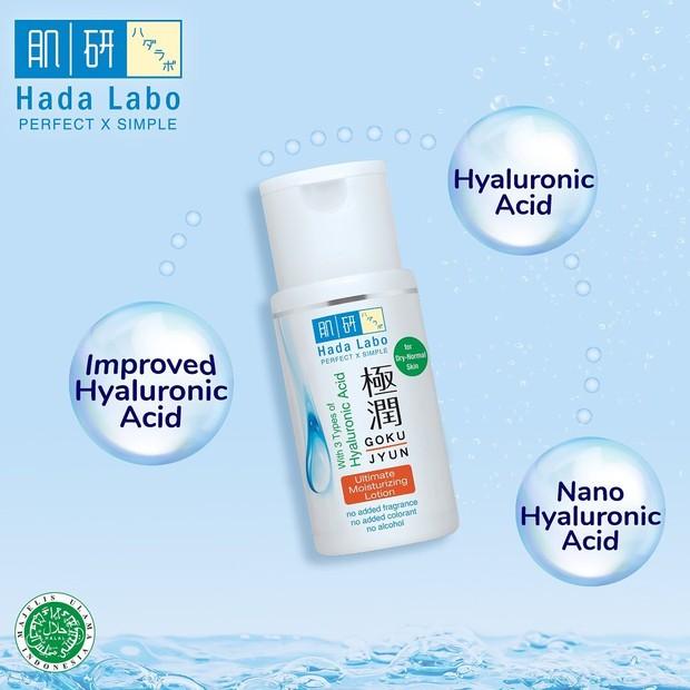 Koleksi foto produk best seller Hada Labo dengan kandungan 3 bahan utama yang membantu kulit wajah lebih sehat.