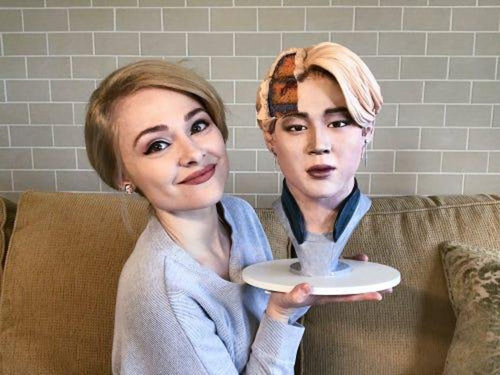 Cake Bentuk Hewan dan Wajah Orang Jadi Ide Baker Cantik Ini