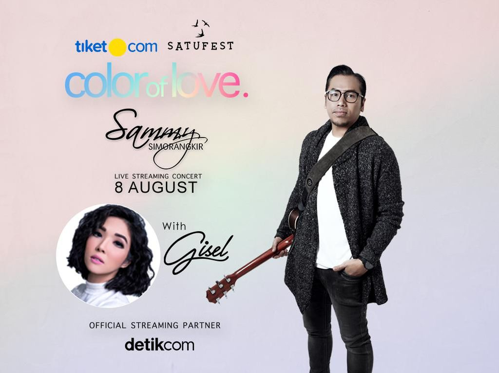 Romantis Bareng Sammy Simorangkir di Konser Color of Love