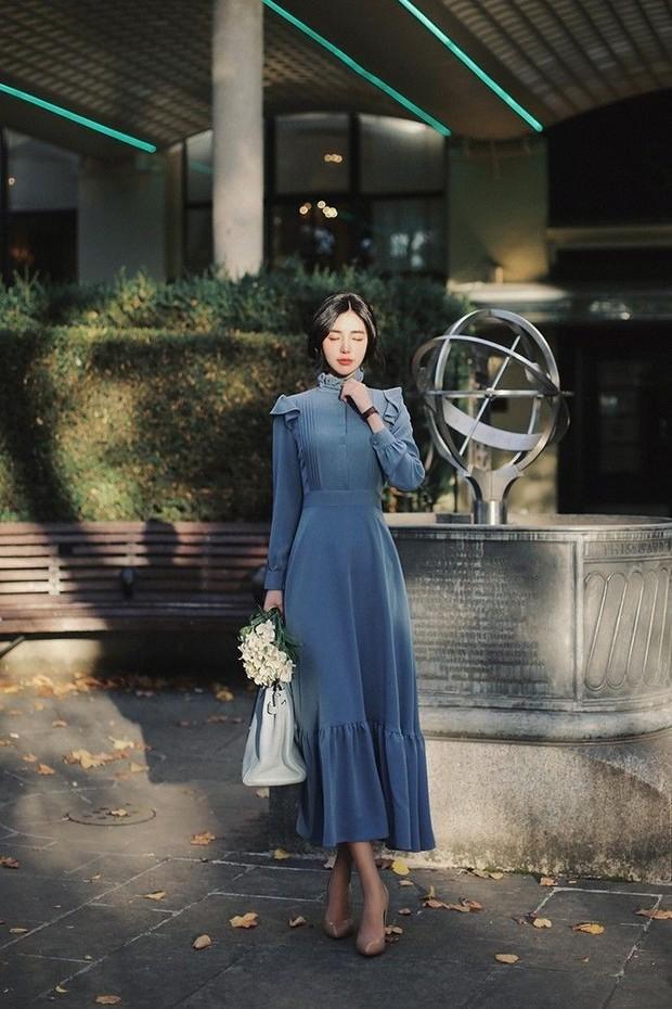 gaya fashion dengan long dress