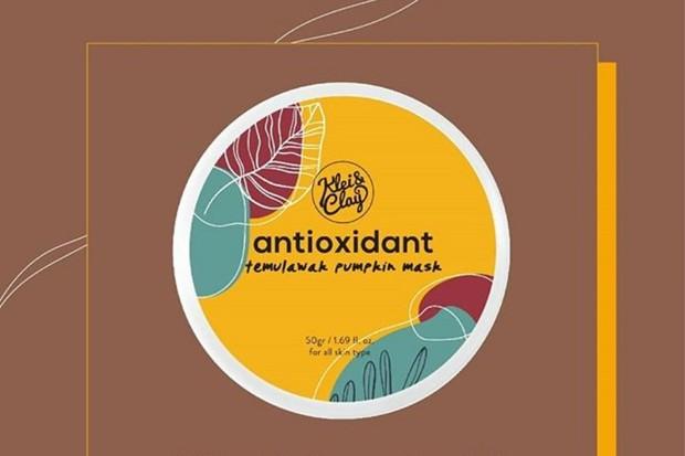 Klei & Clay Antioxidant Temulawak + Pumpkin Mask dapat digunakan sebagai skincare untuk mengatasi bekas jerawat
