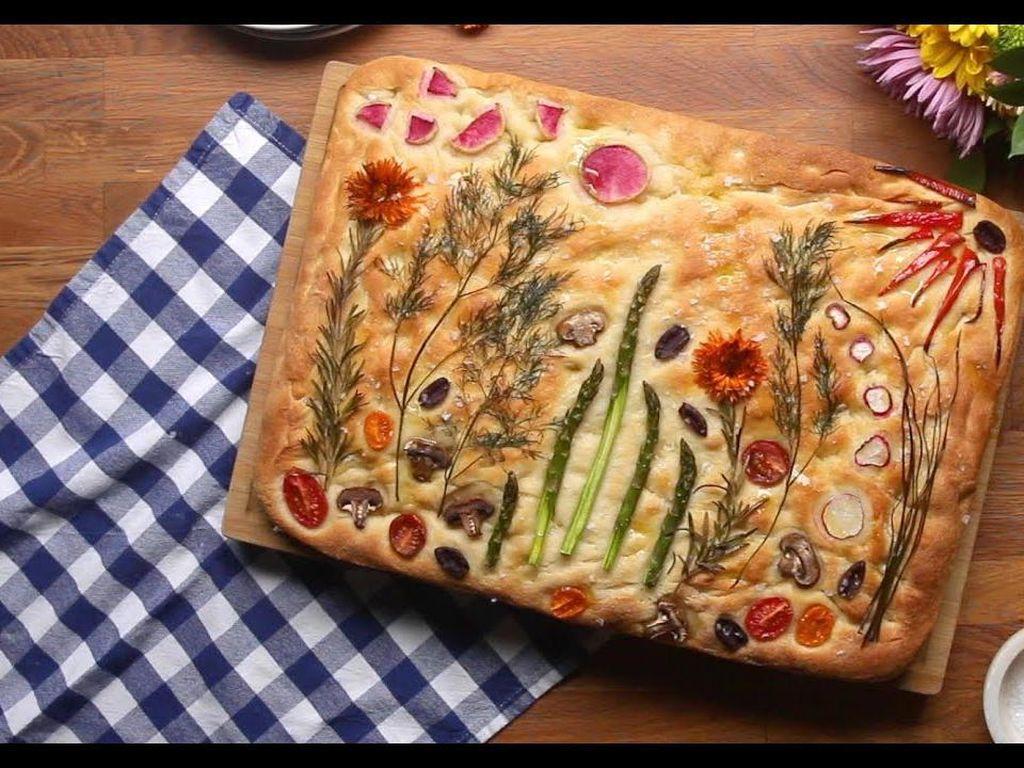 Cantiknya Roti Italia Bertema Kebun Bunga yang Jadi Tren