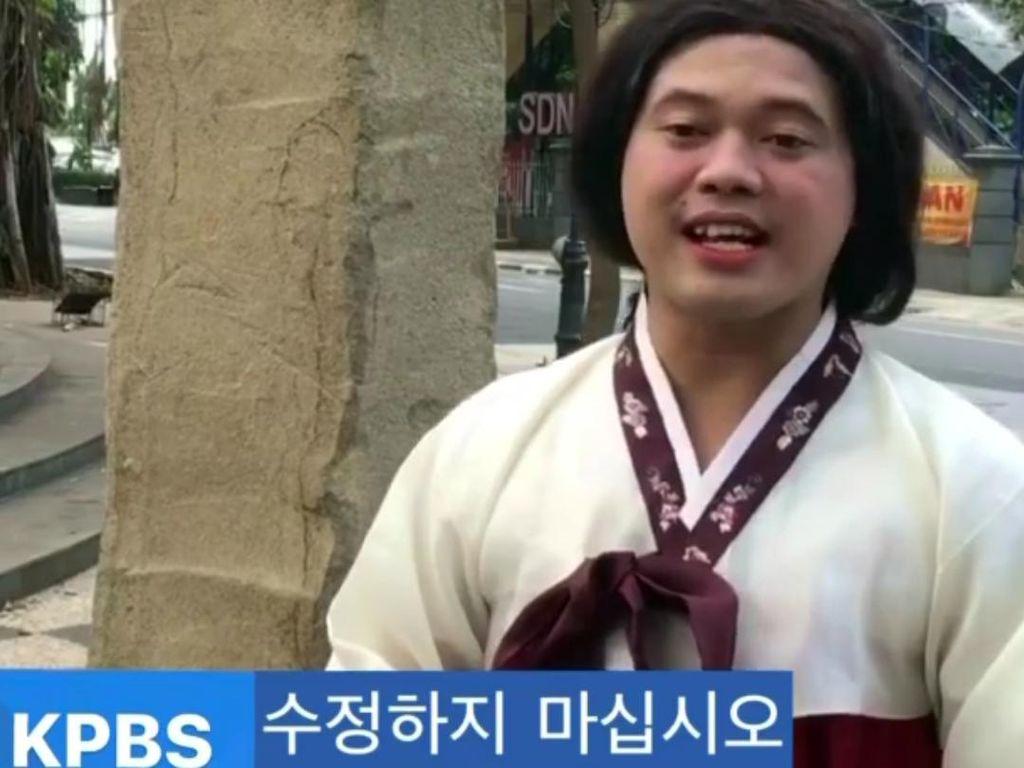 Heboh Berita Berbahasa Sunda Soal COVID-19 Tayang di Televisi Korea