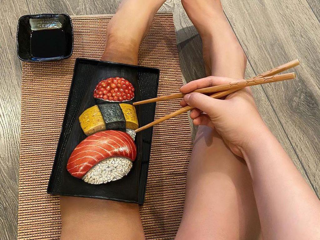 10 Body Painting Bertemakan Makanan Lezat Ini Bikin Lapar