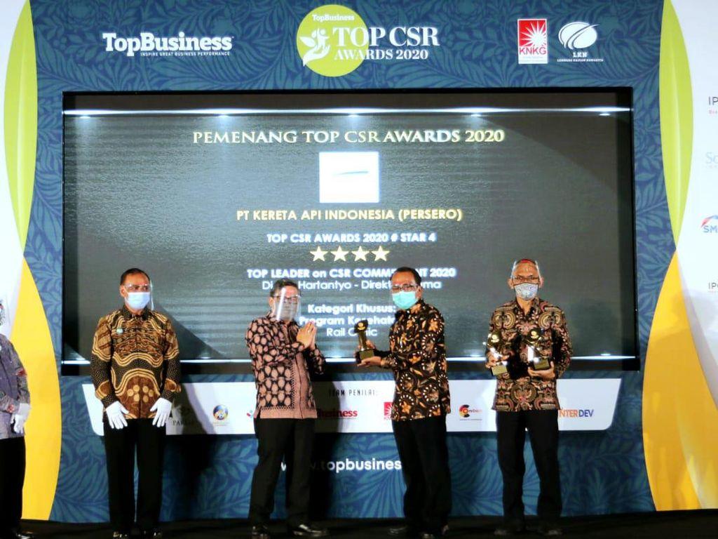 KAI Raih 3 Penghargaan di Ajang TOP CSR Awards 2020