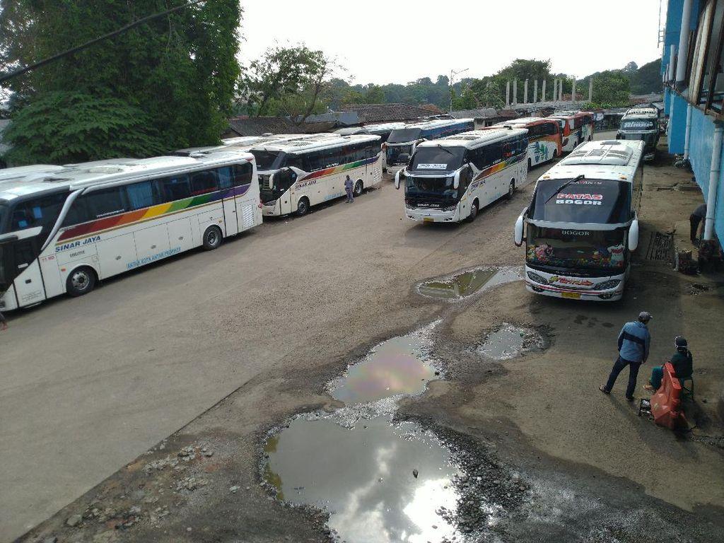 Terminal Baranangsiang Bogor Sepi Penumpang Jelang Idul Adha 2020
