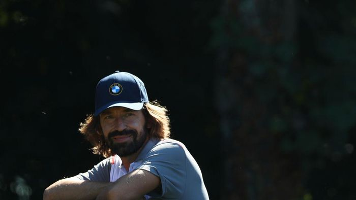 ROME, ITALY - OCTOBER 09: Ex-Italian footballer Andrea Pirlo looks on during a Pro-Am ahead of the Italian Open at Olgiata Golf Club on October 09, 2019 in Rome, Italy. (Photo by Matthew Lewis/Getty Images)
