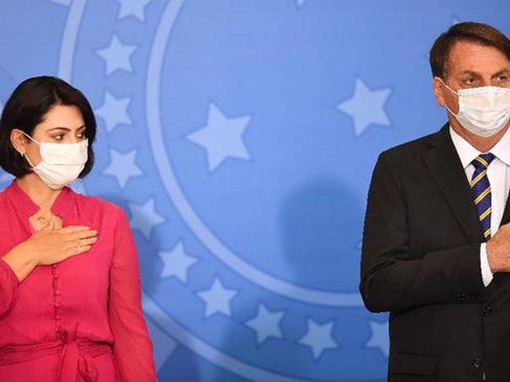 Istri Presiden Brasil Jair Bolsonaro Positif Virus Corona