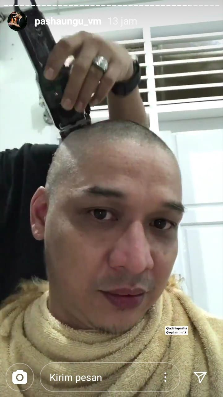 Wakil Wali Kota Palu, Sigit Purnomo Said (Pasha 'Ungu') cukur gundul usai rambut pirangnya jadi sorotan (dok. Istimewa)