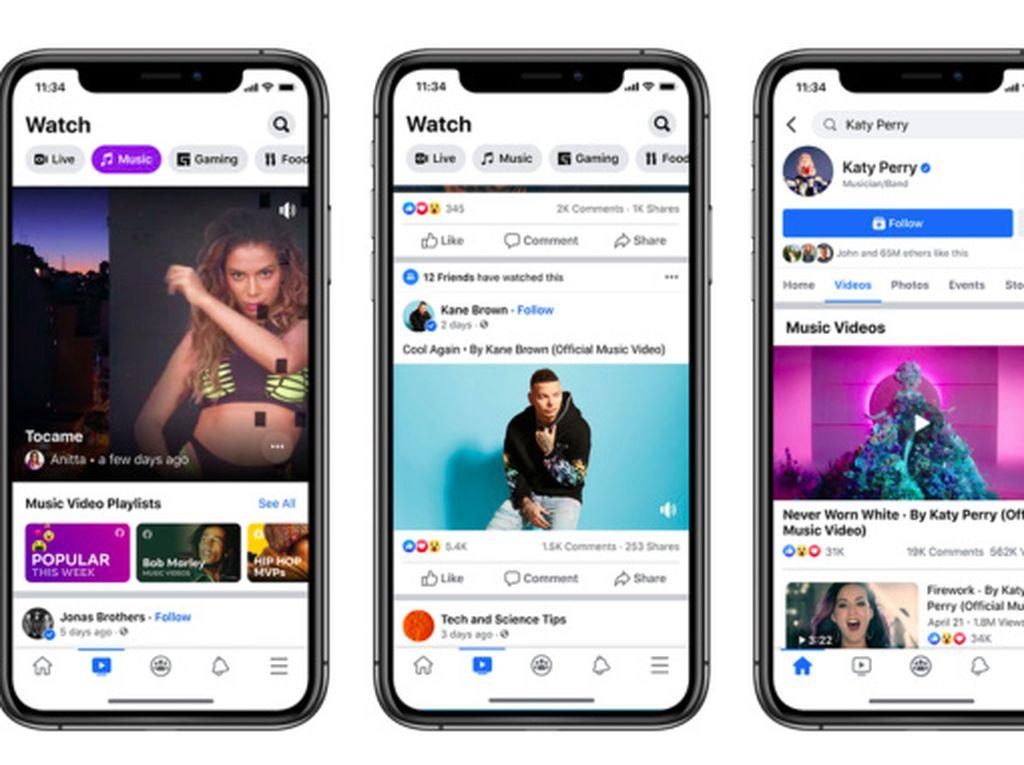 Di Facebook Watch Sekarang Bisa Nonton Musik