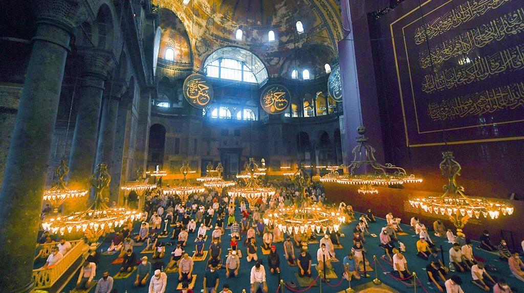 Momen Salat Idul Adha Pertama di Hagia Sophia