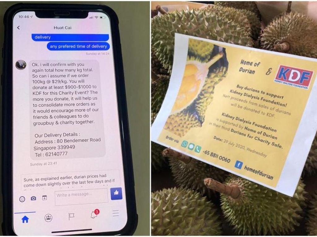 Pesan 100 Kg Durian Untuk Amal, Penipu Ini Kabur Tanpa Bayar