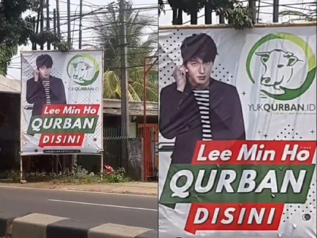 Viral! Penjual Hewan Kurban Pasang Spanduk Lee Min Ho Qurban di Sini