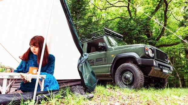 Body kit bergaya Land Rover Defender untuk Suzuki Jimny