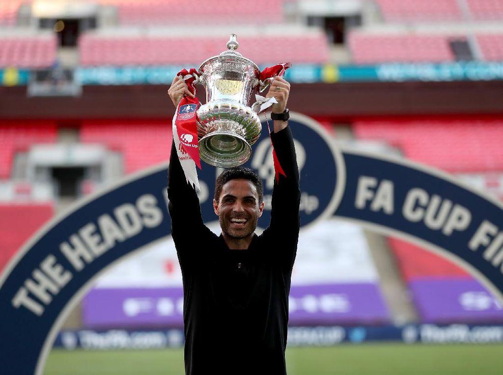 Arsenal Juara Piala FA, Arteta: Terima Kasih Guardiola!