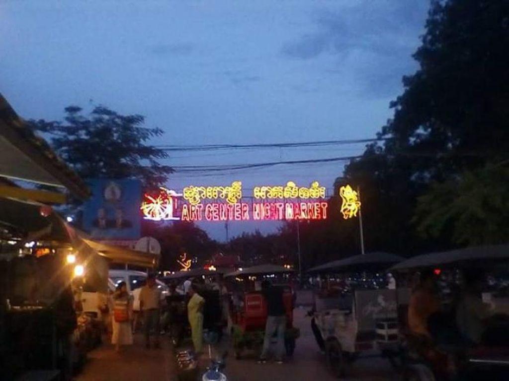 Foto: Wajah Nyeni Siem Reap di Malam Hari