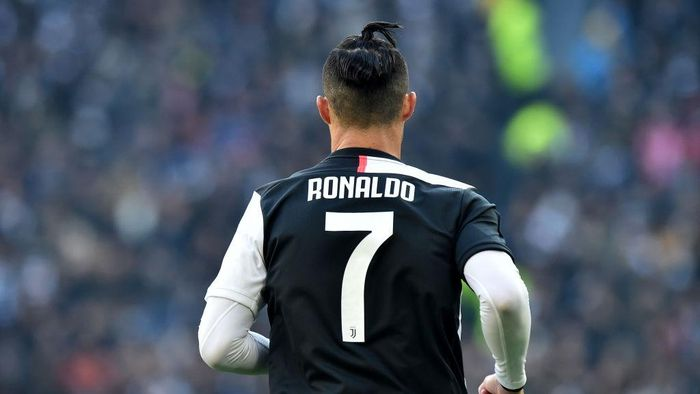 TURIN, ITALY - FEBRUARY 02: Cristiano Ronaldo of Juventus looks on during the Serie A match between Juventus and  ACF Fiorentina at Allianz Stadium on February 02, 2020 in Turin, Italy. (Photo by Tullio M. Puglia/Getty Images)