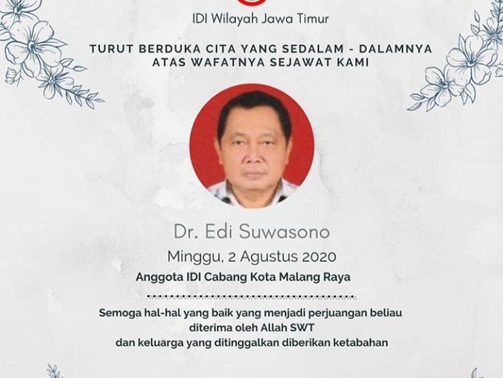 Pertama Kalinya di Malang, Satu Dokter Meninggal Karena COVID-19
