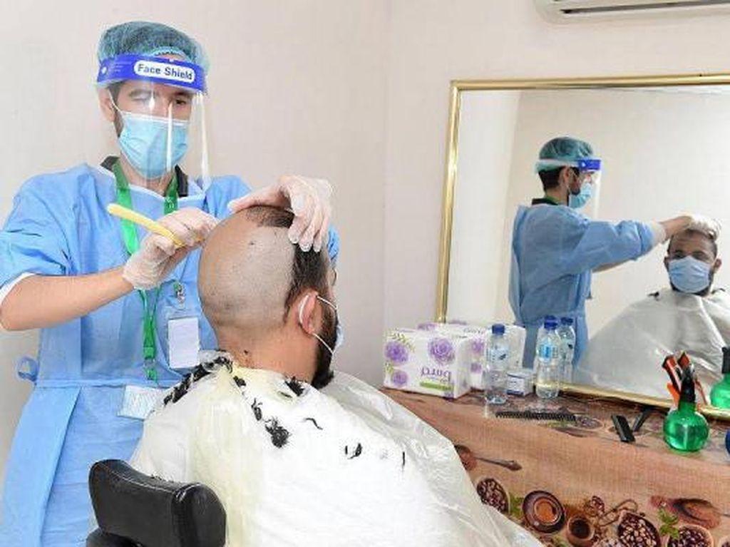 Jamaah Haji 2020 Nikmati Salon Bintang 5 untuk Tahalul