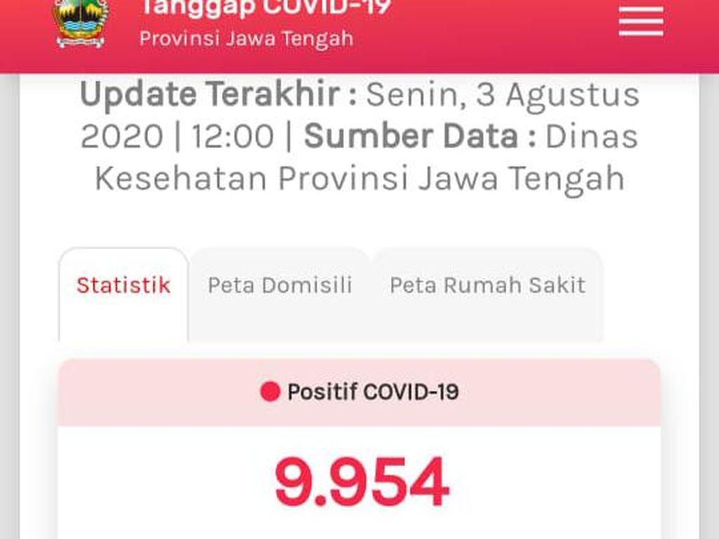 Update COVID-19 di Jateng 3 Agustus: Positif Tambah 219 Jadi 9.954