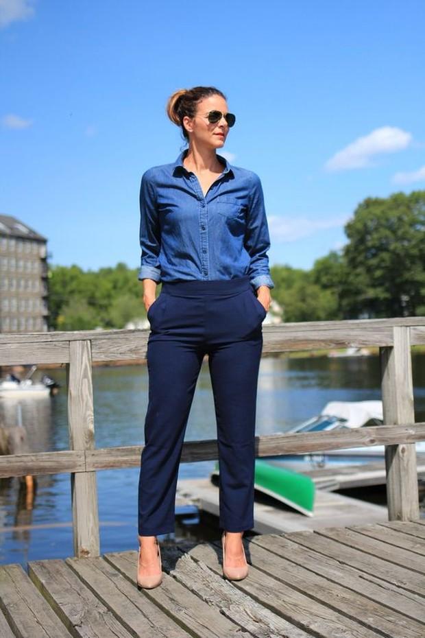 Koleksi potret outfit navy blue yang di mix and match cantik dengan biru.