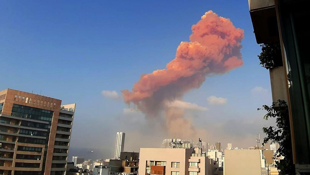 Ledakan Besar Beirut yang Berbentuk Awan Jamur
