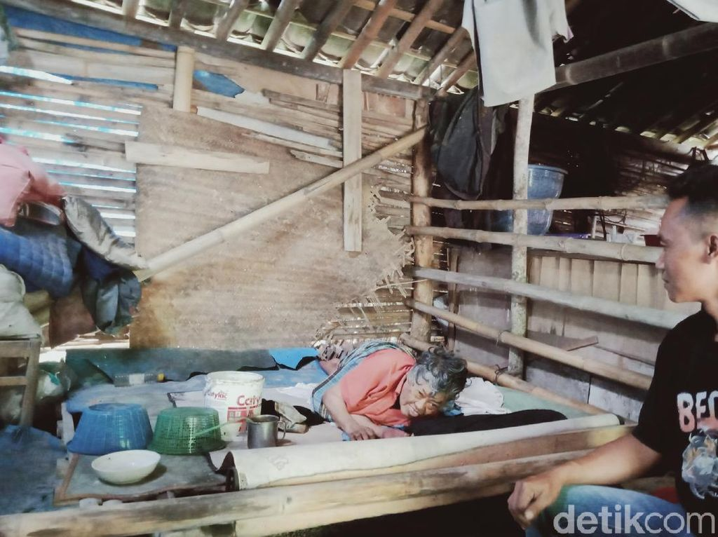 Kisah Mbah Slamet, Lumpuh dan Tinggal di Rumah Bambu Dekat Kandang Ayam