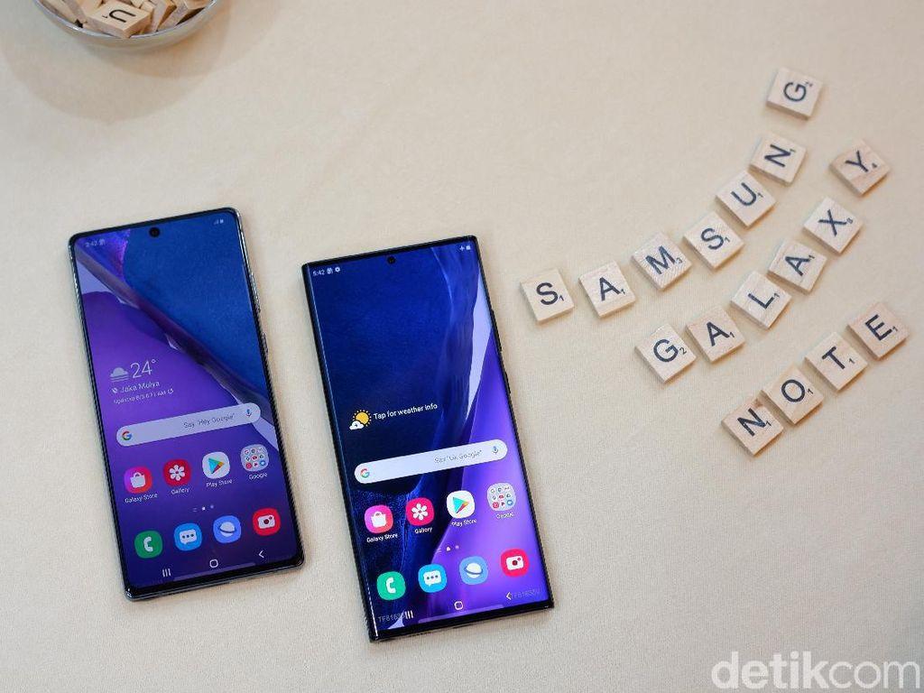 Perbandingan Spesifikasi Galaxy Note 20 dan Note 20 Ultra