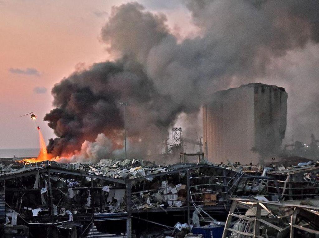 PM Lebanon: 2.750 Ton Amonium Nitrat Ada di Lokasi Ledakan Beirut
