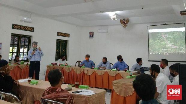 peta rencana pembangunan proyek jalan tol Yogya-Bawen di wilayah Desa Tirtoadi, Kecamatan Mlati, Kabupaten Sleman, Yogyakarta.