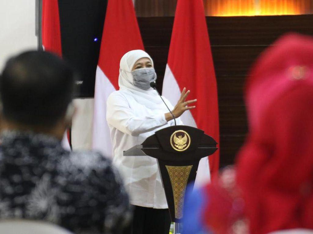 Jumlah Kematian 1.817, Khofifah Sebut Pasien Sembuh Tertinggi di Indonesia