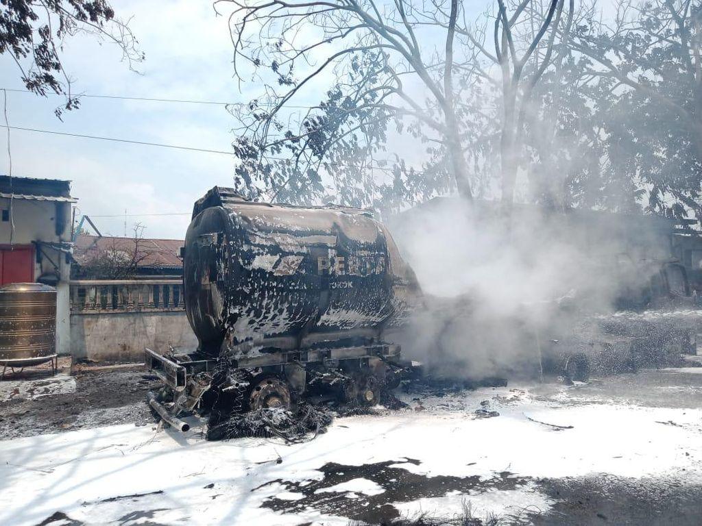 Truk Tangki BBM Terbakar di Medan, 1 Orang Alami Luka Bakar