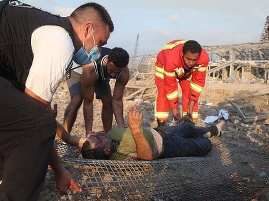 Ledakan di Lebanon, Warga Menangis dan Marah Atas Kelalaian Pemerintah