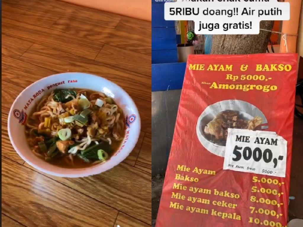 Viral! Di Yogyakarta Bisa Makan Kenyang Mie Ayam Harga Rp 5.000