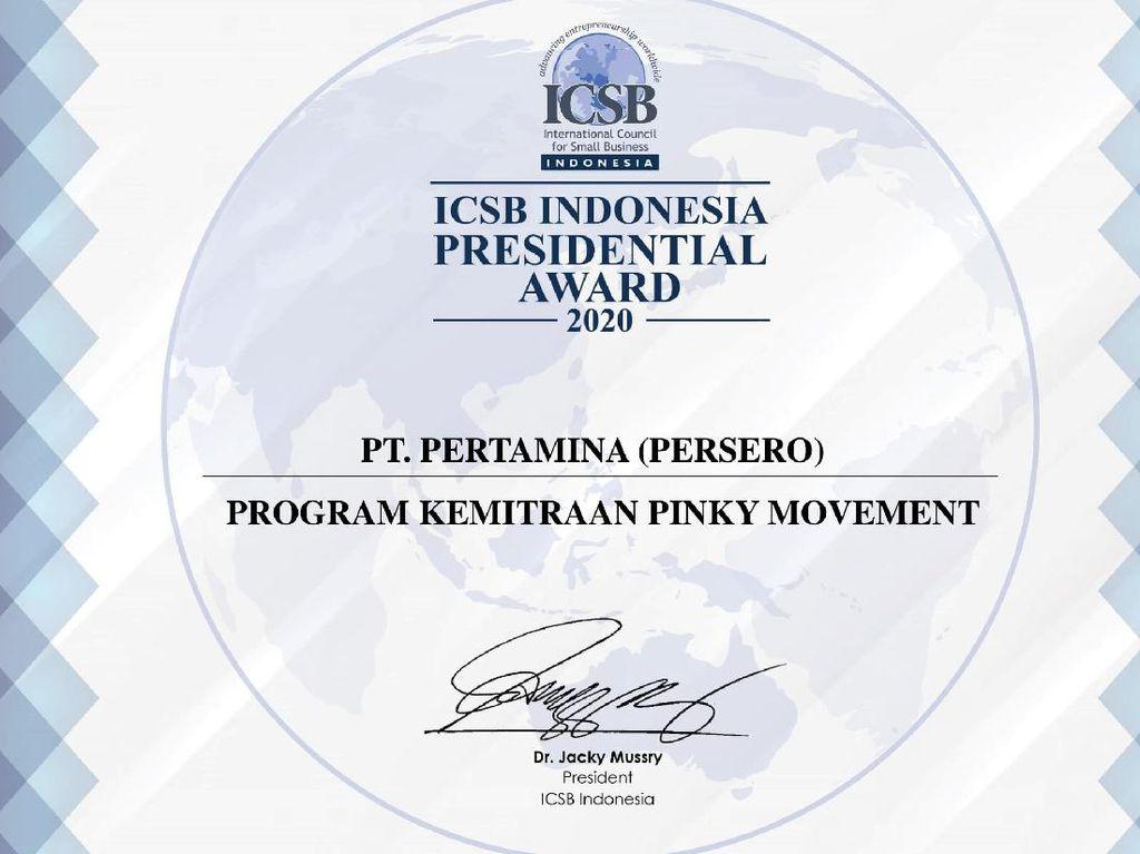 Pinky Movement Pertamina Sabet Penghargaan ICSB Indonesia 2020