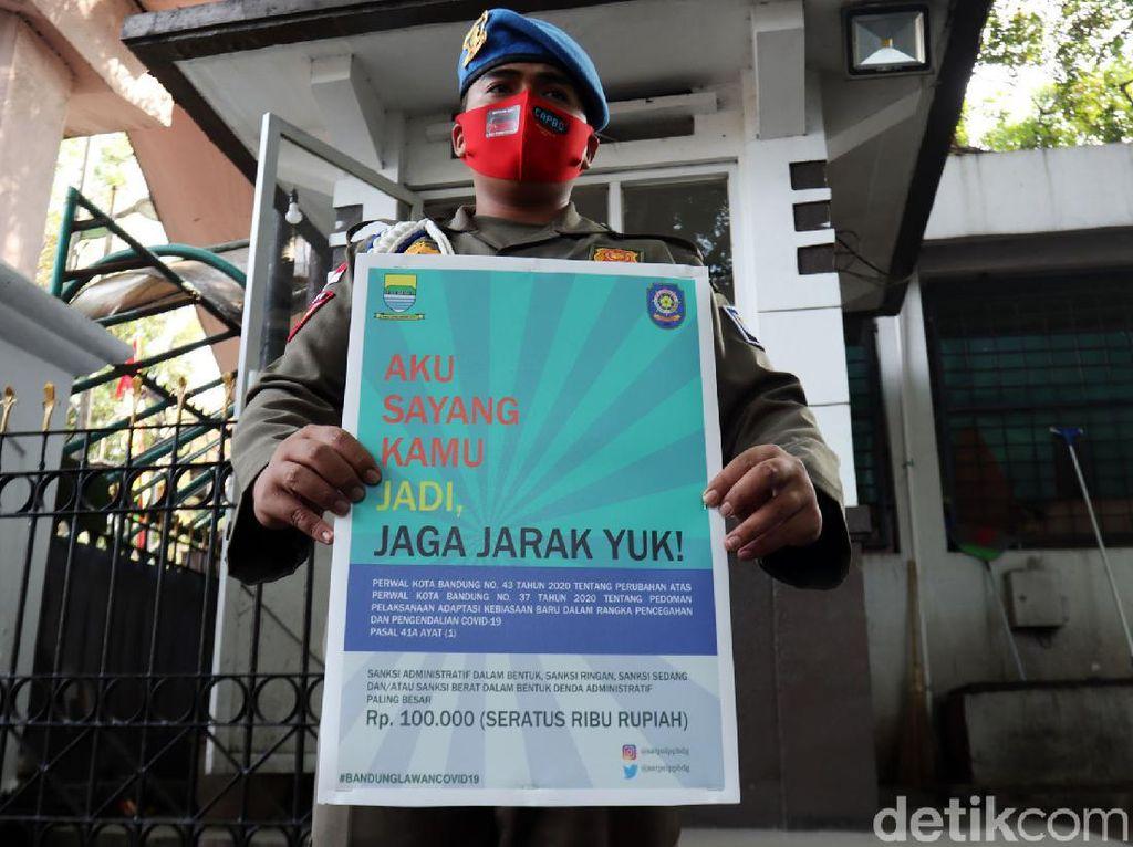 Denda Masker Diberlakukan, Satpol PP Bandung Pelototi Pasar-Mal