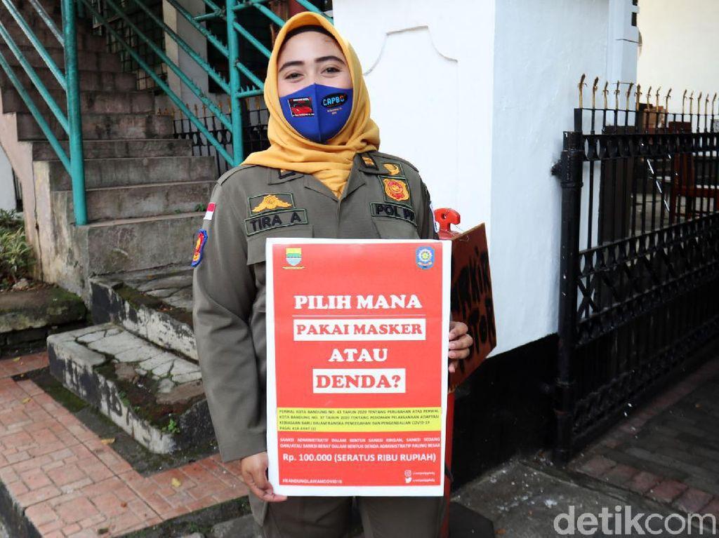 Ratusan Warga Bandung Ditegur Gegara Tak Pakai Masker