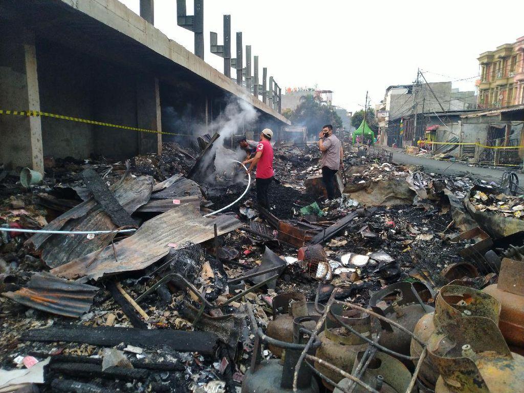 Ini Penyebab Kebakaran Pasar Timbul Tomang Sulit Dipadamkan