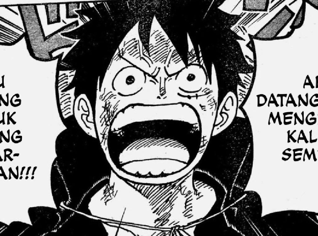 Manga One Piece Chapter 1.000, Monkey D Luffy: Saya Akan Jadi Raja Bajak Laut