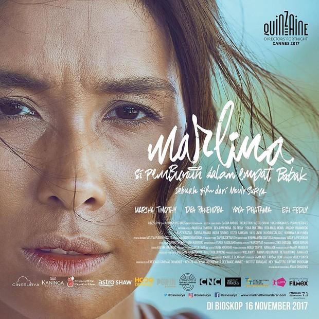 Film Marlina Si Pembunuh dalam Empat Babak berhasil tayang di 19 negara dan mendapatkan 17 piala dan 24 nominasi penghargaan skala internasional.