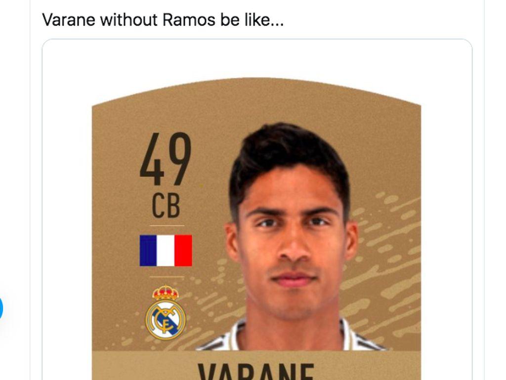Blunder Varane Jadi Bahan Meme, Ada Ramos dan Gareth Bale