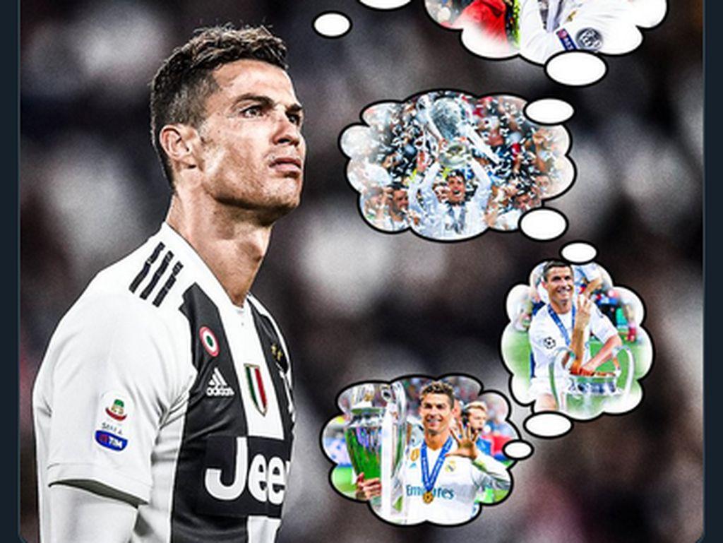 Meme Cristiano Ronaldo dan Real Madrid Saling Rindu