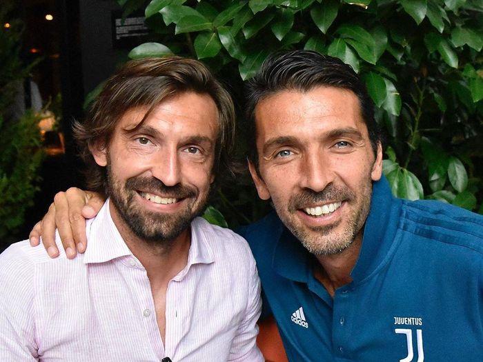 Gianluigi Buffon dan Andrea Pirlo